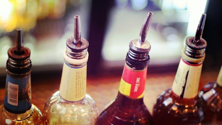 lliquor bottle pourers four