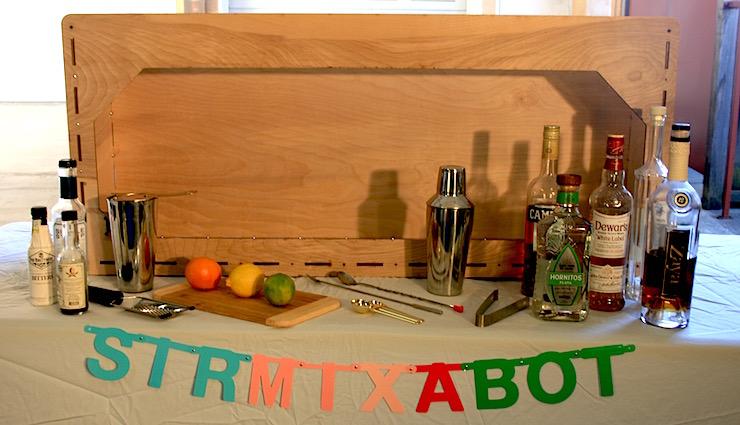 small liquor cabinet sir-mix-a-bot