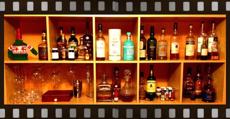 small liquor cabinet wide