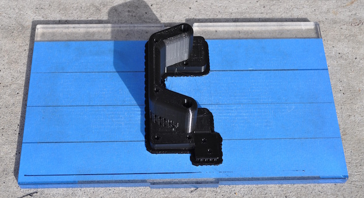 3d print lower rail holder rough