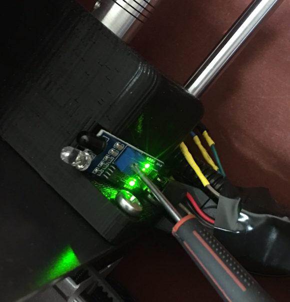 both lights on IR sensor