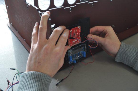 mounting electronics board