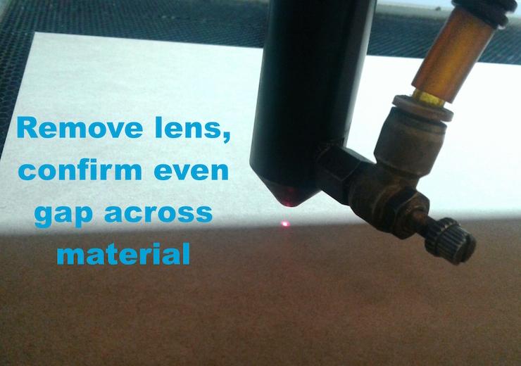 LaserCuttingMachine Calibrating the laser cutter