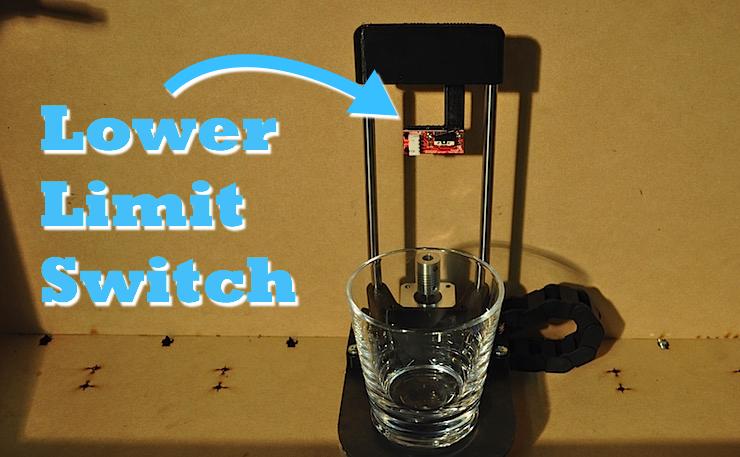 cocktail mixer machine lower limit switch