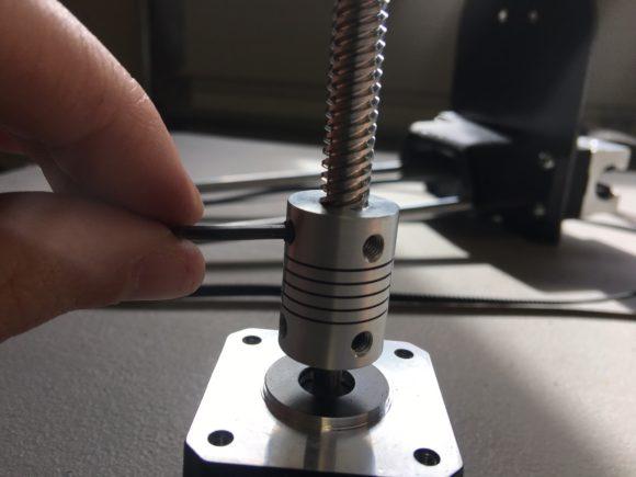 stepper drive rod flex coupling set screws