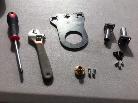 Upper drink actuator parts